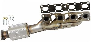 Eastern Catalytic Catalytic Converter with Integrated Exhaust Manifold  Left