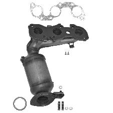 Eastern Catalytic Catalytic Converter with Integrated Exhaust Manifold  Front Left