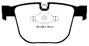 EBC Brakes Disc Brake Pad Set  Rear