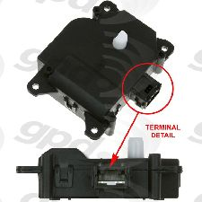 Global Parts HVAC Blend Door Actuator