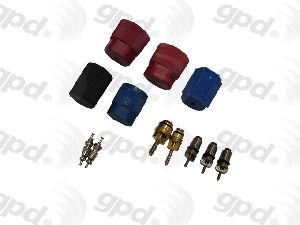 Global Parts A/C System Valve Core and Cap Kit