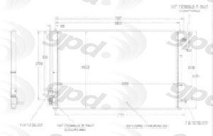 Global Parts A/C Condenser