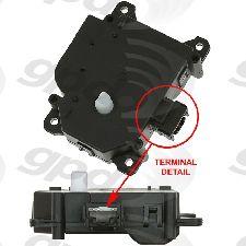 Global Parts HVAC Heater Blend Door Actuator