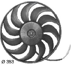 Hella Engine Cooling Fan Assembly  Left