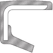 National Bearing Engine Camshaft Seal  Rear