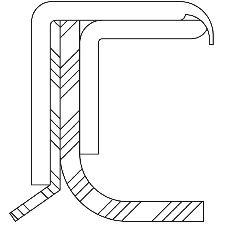 National Bearing Engine Crankshaft Seal Kit  Rear