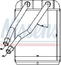 Nissens HVAC Heater Core  Front
