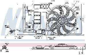 Nissens Engine Cooling Fan Assembly  Front
