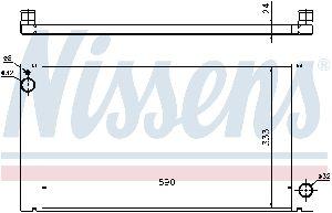 Nissens Radiator  Front