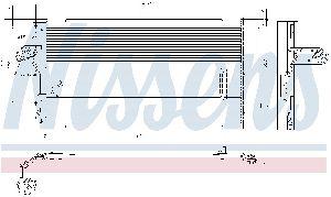Nissens A/C Condenser  Front