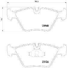 Pagid Disc Brake Pad Set  Front