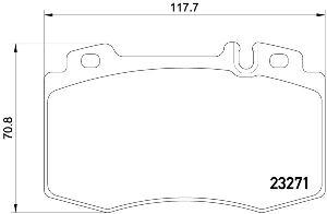 Pagid Disc Brake Pad Set  Front