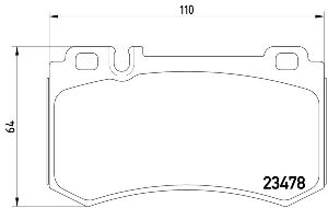 Pagid Disc Brake Pad Set  Rear