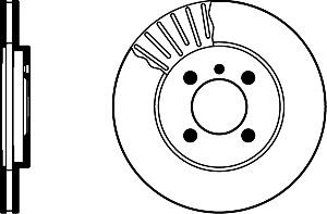 Pagid Disc Brake Rotor  Front