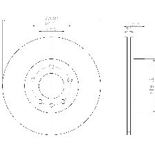 Pagid Disc Brake Rotor  Front Left
