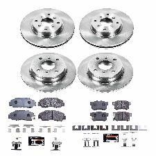 Power Stop Disc Brake Pad and Rotor Kit  Front and Rear