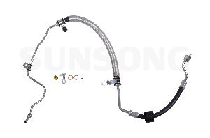 Sunsong Power Steering Pressure Line Hose Assembly  Pump To Rack