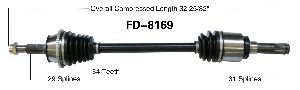Surtrak Axle CV Axle Shaft  Rear Right