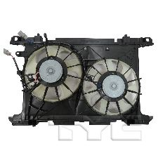 TYC Products Dual Radiator and Condenser Fan Assembly  N/A