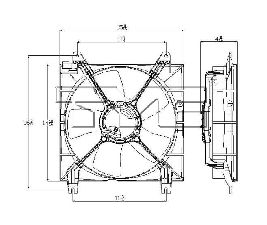 TYC Products Engine Cooling Fan Assembly  Left