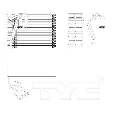 TYC Products A/C Evaporator Core  Rear