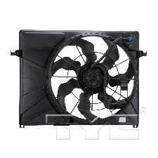TYC Products Dual Radiator and Condenser Fan Assembly