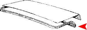 URO Parts Trunk Lid Seal  Rear