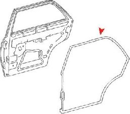 URO Parts Door Seal  Rear Right
