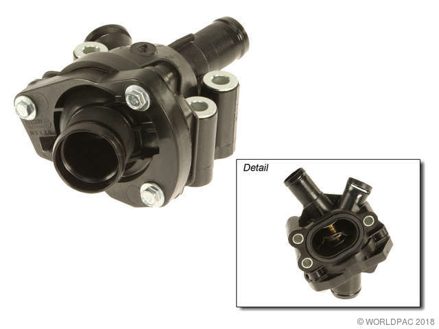 Genuine Engine Coolant Thermostat / Water Outlet Assembly