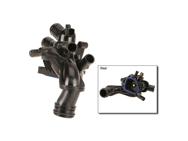 Rein Engine Coolant Thermostat / Water Outlet Assembly