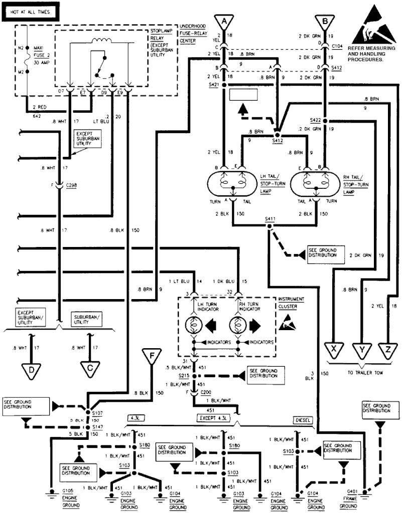 Wiring Diagram 94 Gmc S15 Blazer Library 1977 Camaro Engine Rear Body Taillight Tail Lamp Socket Rh Carjunky Com Chevy Silverado Light 1989 Truck