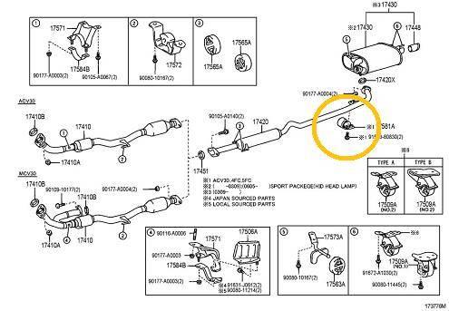 2000 Toyota Avalon Exhaust Diagram Tools