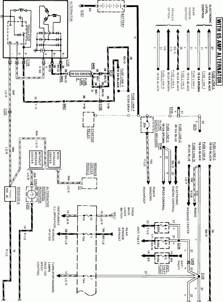 1985 corvette rear hatch wiring diagram 1985 corvette