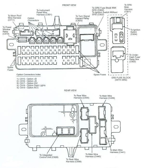 honda del sol fuse box wiring diagrams schematic rh galaxydownloads co 94 honda civic dx fuse box diagram 1994 honda civic under dash fuse box diagram