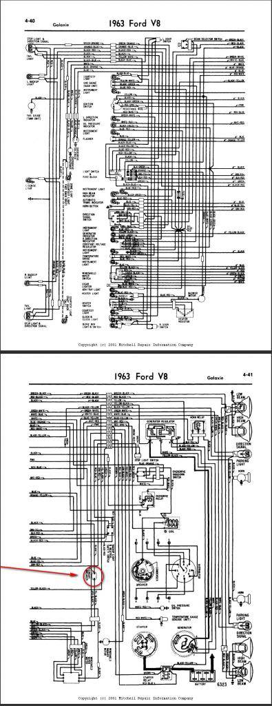ford galaxie 500 i hadn t looked at a wiring diagram before this but i dug this one out from mitchell and these diagram are hard to follow but they seem to share a circuit