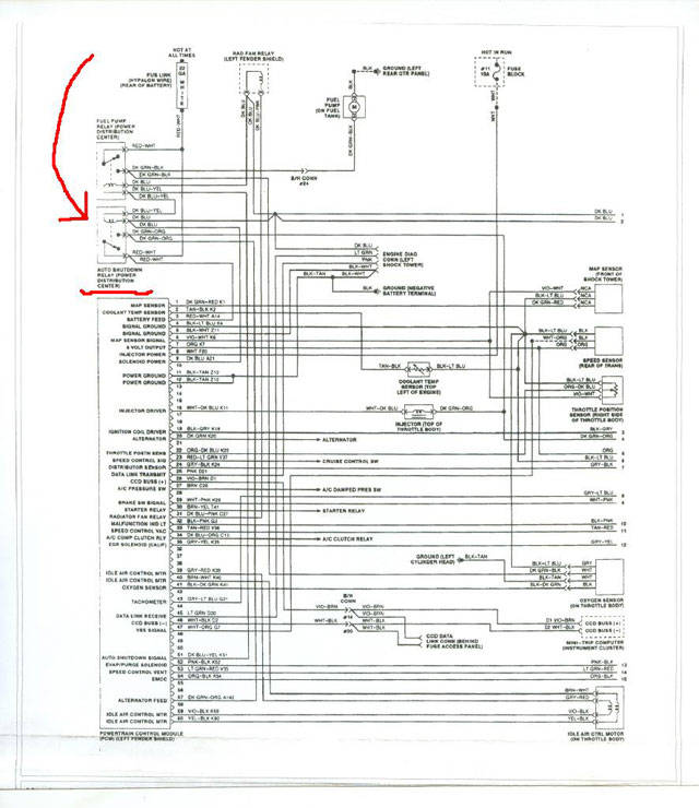 [SCHEMATICS_4FD]  Plymouth Fuel Pump | 1992 Plymouth Acclaim Wiring Diagram |  | CarJunky.com